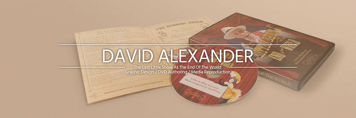 DVD authoring for Mr Alexander